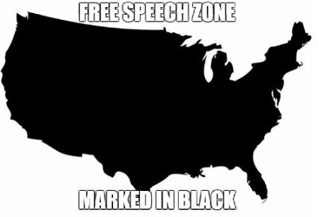 USA free speech zone america outline