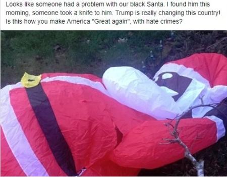Murdered Black santa